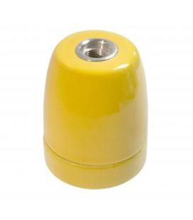 Douille E27 Jaune - Suspension câble textile