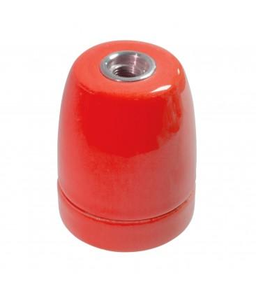 Douille E27 Rouge - Suspension Câble Textile