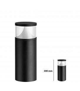 Pilier LED Extérieur Rond Transparent - 12 W - IP 65 - 300 mm - DeliTech®