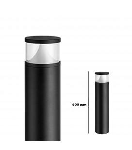Pilier LED Extérieur Rond Transparent - 12 W - IP 65 - 600 mm - DeliTech®