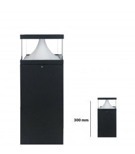 Pilier LED Extérieur Carré Transparent - 12 W - IP 65 - 300 mm - DeliTech®