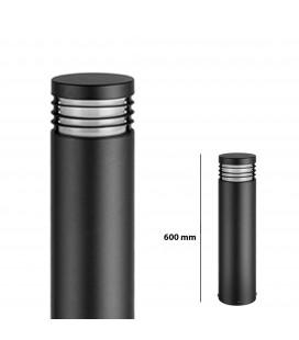 Pilier LED Extérieur Rond avec Grille - E27 - IP 54 - 600 mm - DeliTech®