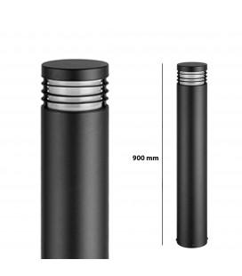 Pilier LED Extérieur Rond avec Grille - E27 - IP 54 - 900 mm - DeliTech®