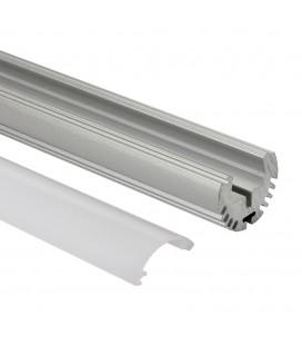 Profilé LED rond - Série O24 - 1,5 mètre - Aluminium - Diffuseur opaque