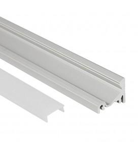 Profilé LED d'angle - Série V16 - 1,5 mètre - Aluminium - Diffuseur opaque