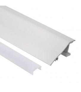 Profilé LED de corniche - Série V40 - 1,5 mètre - Aluminium blanc - Diffuseur opaque