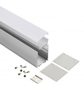 Profilé LED Linéaire - Série L70 - 1,5 mètre - Aluminium - Diffuseur opaque