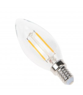 Ampoule filament LED Transparent - E14 - B35 - 2,5 W - SMD Epistar - Ecolife Lighting®