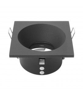 Support d'encastrement UGR - GU10 / MR16 Non orientable - Carré - Noir