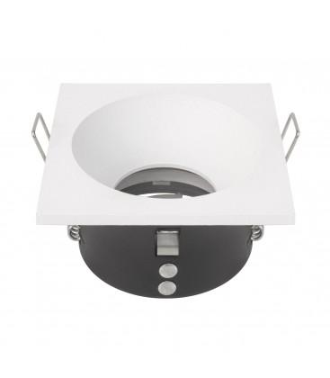 Support d'encastrement UGR & IP65 - GU10 / MR16 Non orientable - Carré - Blanc