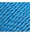 Fil électrique tressé - 2x0.75mm2 - Sur mesure - Couleur Bleu