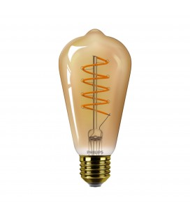 Ampoule LED E27 Philips décorative à filament - CLA LEDBulb D 5.5-25W ST64 E27 GOLD SP C