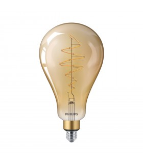 Ampoule LED E27 Philips décorative à filament - LED classic-giant 40W E27 A160 GOLD DIM