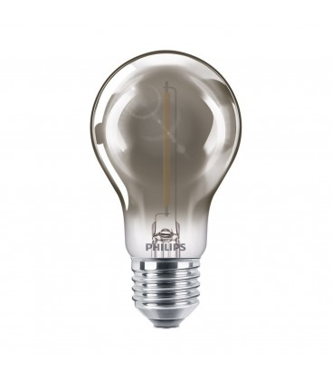 Ampoule LED E27 Philips décorative à filament - LED classic 15W A60 E27 smoky ND SRT4
