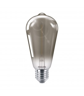 Ampoule LED E27 Philips décorative à filament - LED classic 15W ST64 E27 smoky ND SRT4