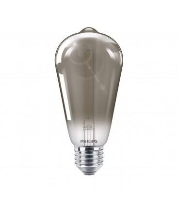 Ampoule LED E27 Philips décorative à filament - LED classic 15W ST64 E27 smoky ND SRT4