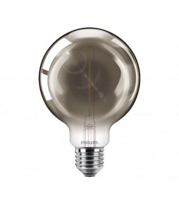 Ampoule LED E27 Philips décorative à filament - LED classic 15W G93 E27 smoky ND SRT4