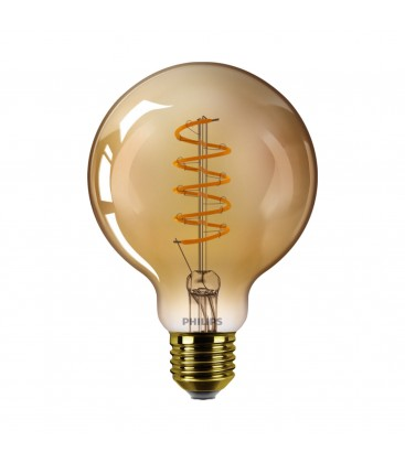 Ampoule LED E27 Philips décorative à filament - LED classic 25W G93 E27 GOLD SP D SRT4