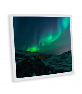 Pack de 1 dalle LED imprimée - Aurore Boréale - 600x600mm (alimentation non fournie)