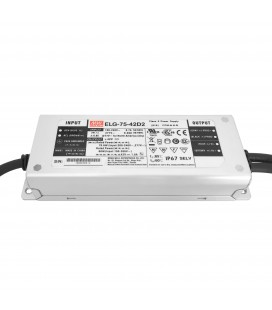 Alimentation LED Type D2 - 75W - 42VDC CC+CV Timer dimming - MeanWell