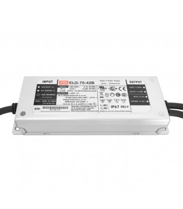 Alimentation LED Type B - 75W - 42VDC 1.8A CC+CV IP67 3in1 Dimming - MeanWell