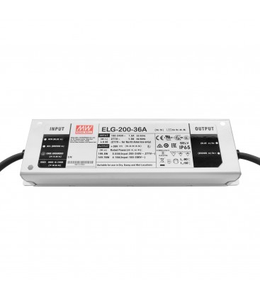 Alimentation LED Type A - 200W - 36V - 5.55A IP65 CC+CV Io/Vo adjW/pot