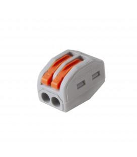 Borne de raccordement S222 - 2 entrées - flexible 0.08-4 mm2 - rigide 0.08-2.5 mm2