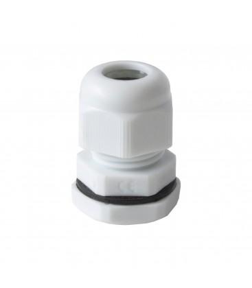 Presse-étoupe plastique IP68 PG11 - Blanc