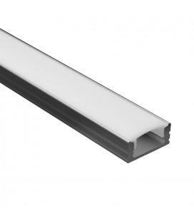 Profile Led - Serie U07 - 1,5 metres - Noir - Diffuseur opaque