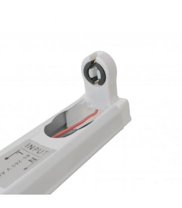 Réglette Slim pour tube LED T8 simple - Non étanche - 600 mm - DeliTech®