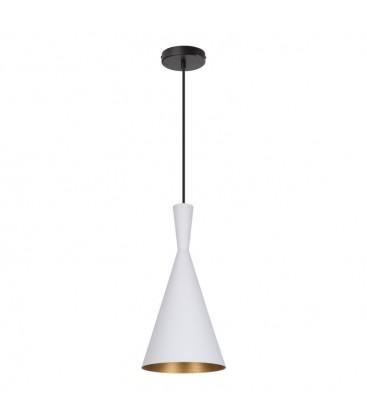 Lampe suspendue Héra - Blanche - Culot E27 - DeliTech®