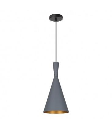 Lampe suspendue Héra - Grise - Culot E27 - DeliTech®