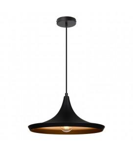 Lampe suspendue Gaïa - Noir - Culot E27 - DeliTech®