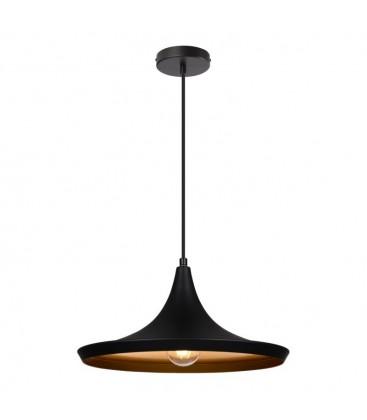Lampe suspendue Gaïa - Noire - Culot E27 - DeliTech®