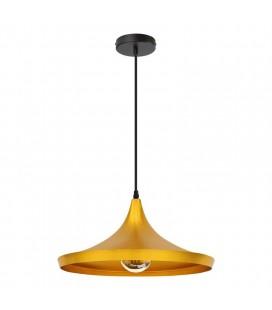 Lampe suspendue Gaïa - Doré - Culot E27 - DeliTech®