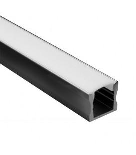 Profilé LED - Série U15 - 1,5 mètre - Noir - Diffuseur opaque