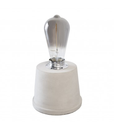 Lampe à poser Atlas - Pied conique - Béton - Culot E27 - DeliTech®