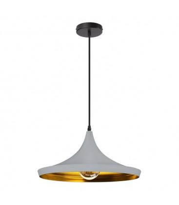 Lampe suspendue Gaïa - Gris - Culot E27 - DeliTech®