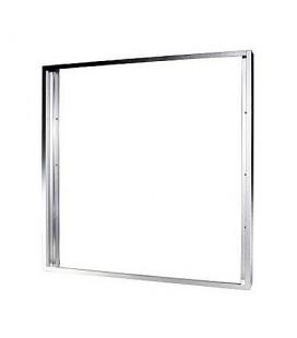Cadre saillie aluminium gris pour Dalle LED 60x60cm