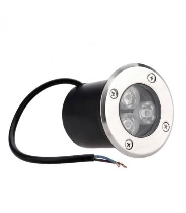Spot Encastrable de Sol LED - 3X1W - Bridgelux - 12V