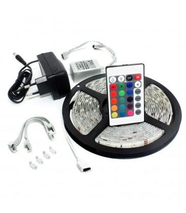 Kit Ruban LED 12V - 30W - RGB / RVB - 5 Mètres