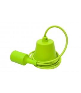 Suspension E27 - Fil électrique Couleur Vert Pomme