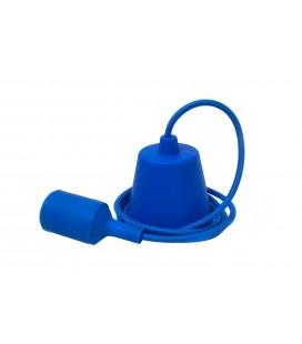 Suspension E27 - Câble textile - Bleu Nuit