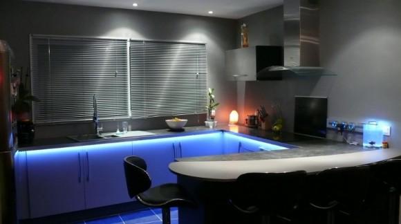 L' éclairage led pour votre cuisine, design et efficace !