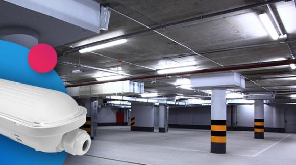 La Réglette LED Intégrée pour l'éclairage des parkings